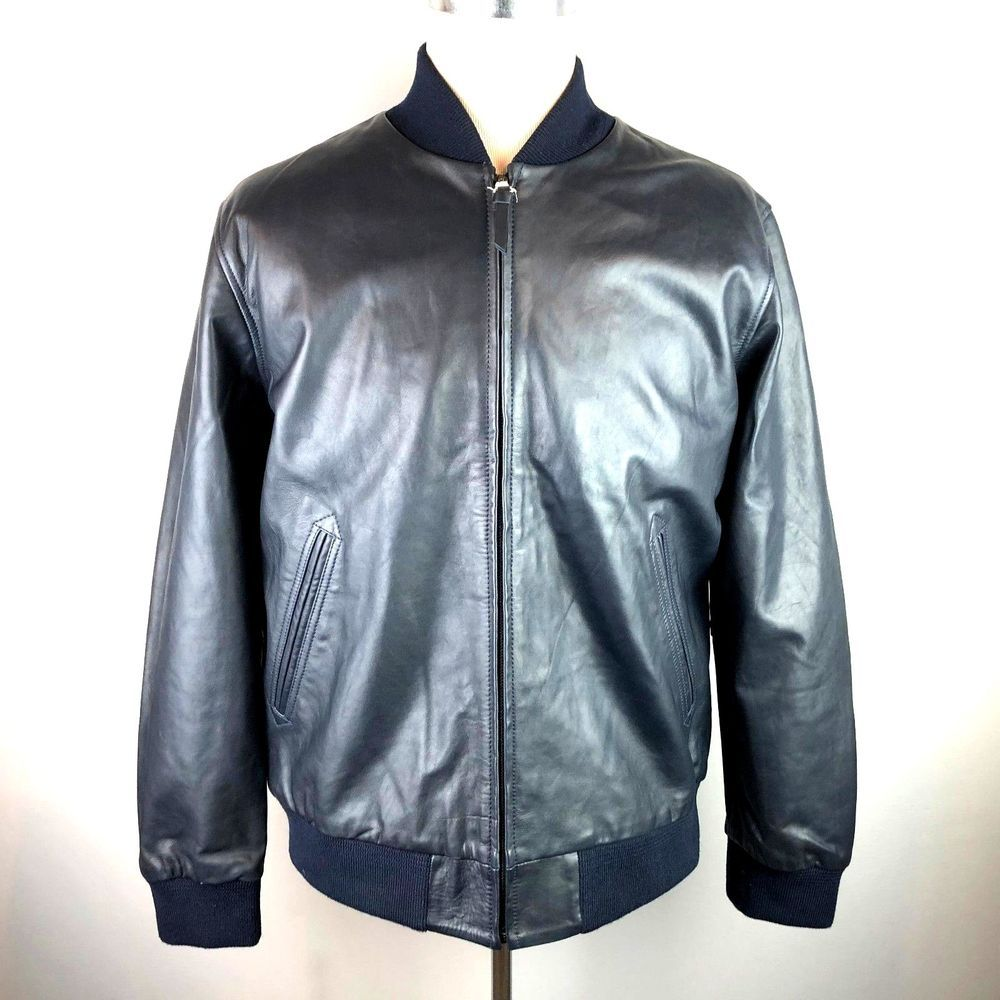 Ebay Sponsored Levis Strauss Navy Blue Cow Leather Bomber Jacket Size Xl Rrp 399 Bnwt New Leather Bomber Jacket Leather Bomber Bomber Jacket [ 1000 x 1000 Pixel ]