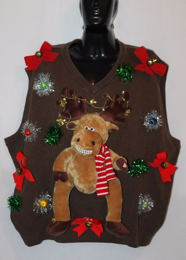 Deb Rottums Tacky Christmas Sweater Vest Men 3xl Grandma Got Run