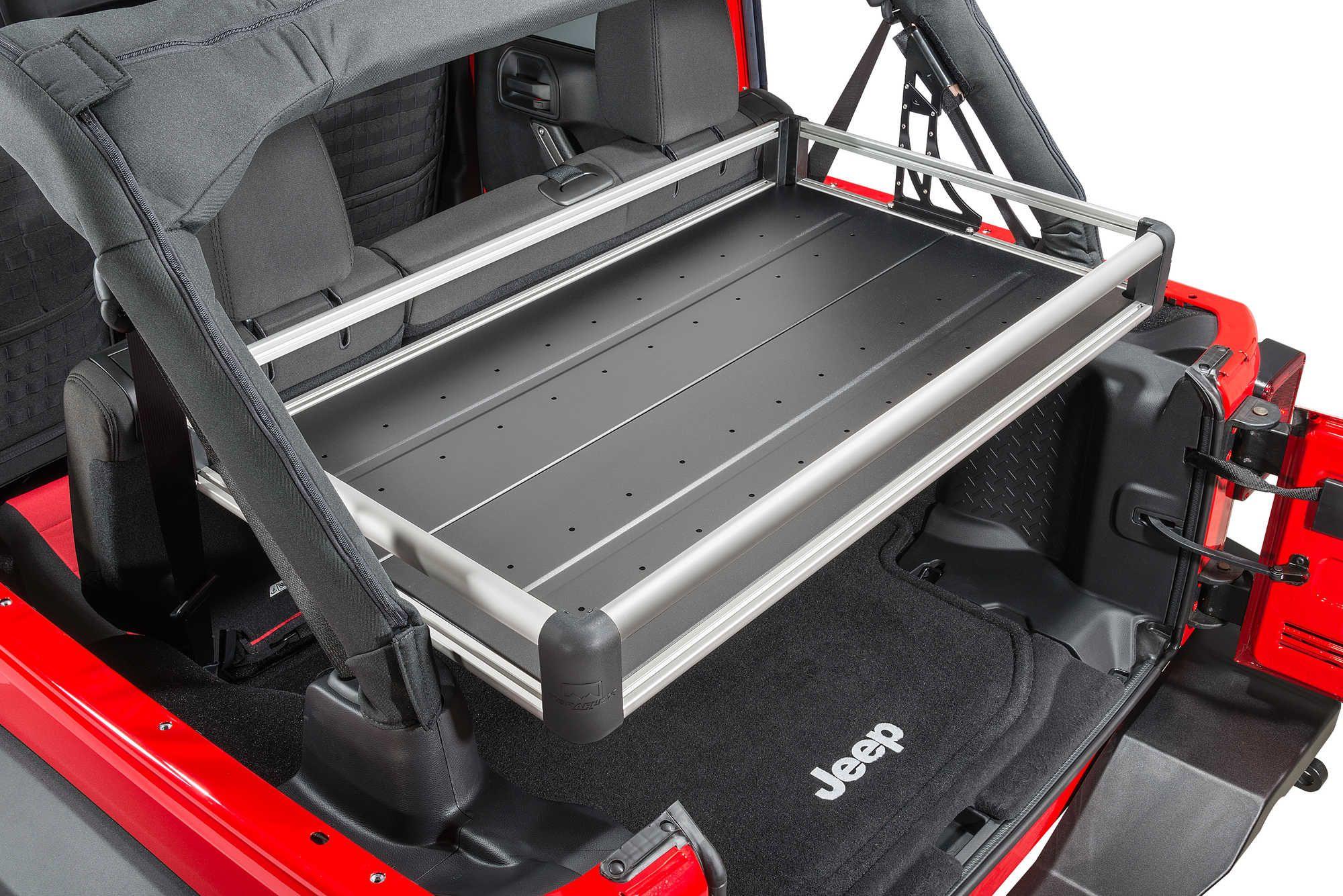 Teraflex Rear Utility Cargo Rack For 07 18 Jeep Wrangler Unlimited