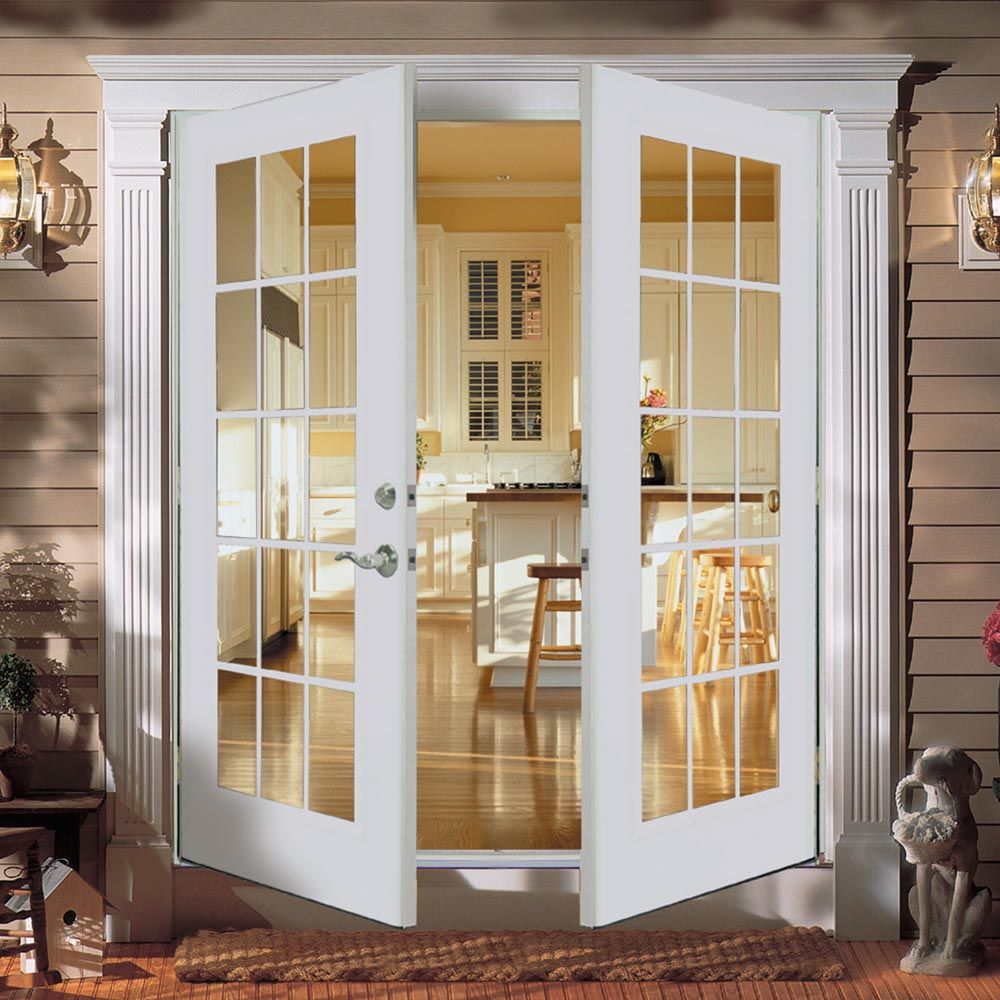 Shop ReliaBilt® 5u0027 ReliaBilt French Patio Door Wind Code Approved Steel  15 Lite