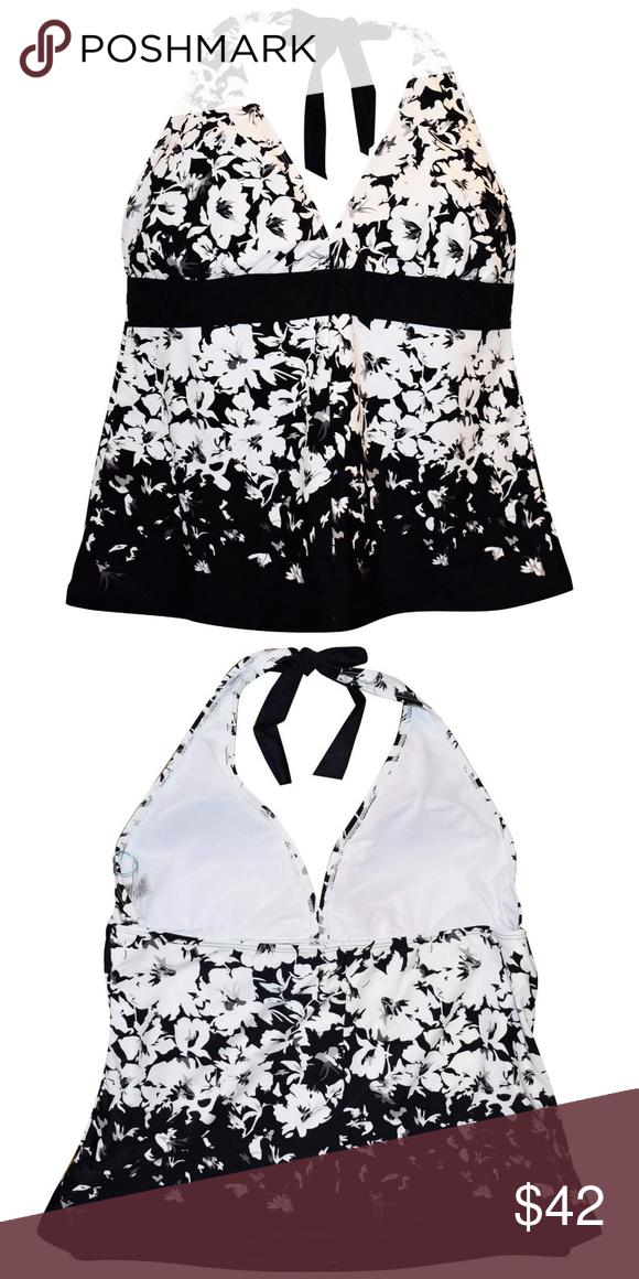 729068b953e3d NWT Women's Plus Size Halter Tankini Swimsuit Top Heat Women's plus size  halter tankini swimsuit top