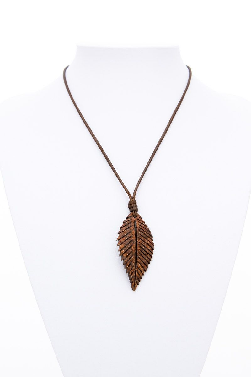 Unisex pendantleaf from coconut shell natural hand carved eco wood unisex pendantleaf from coconut shell natural hand carved eco wood leaf pendant wood aloadofball Image collections