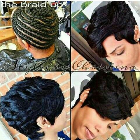 Quick Weave Style Hairstyles Hair Styles Short Weave
