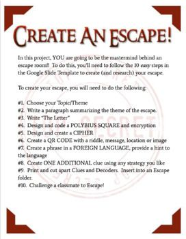 Create Your Own Escape For Students Escape Room Escape Room For Kids Escape Room Puzzles
