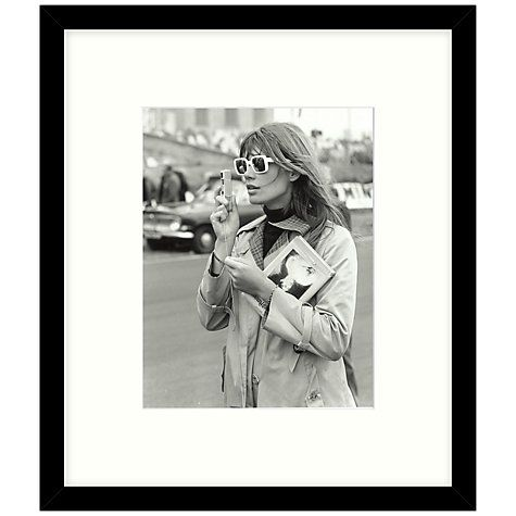Buy getty images gallery francoise hardy 1966 framed print 49 x 57cm online at