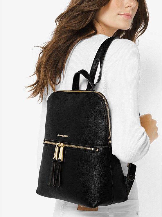 148cf3df7a9a MICHAEL Michael Kors Rhea Medium Slim Leather Backpack | Bag Envy ...