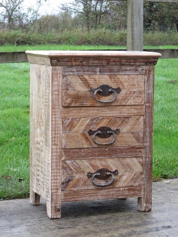 Chest Of 3 Drawers Made From Reclaimed Teak - Indigo Asian Antiques & Interiors UK