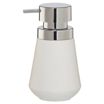 Everly Quinn Si Countertop Soap And Lotion Dispenser Color White