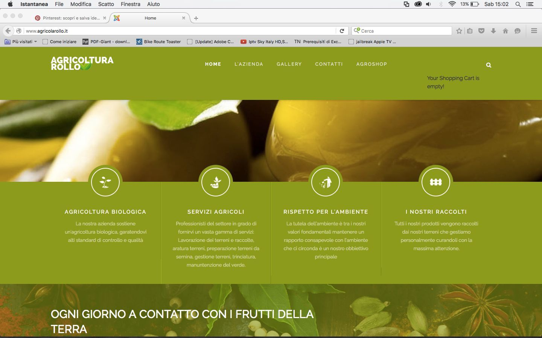 home page scroll sito azienda agricola Rollo Viviana