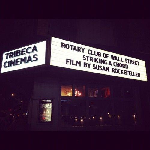 striking a chord film premier. by susan rockefeller.