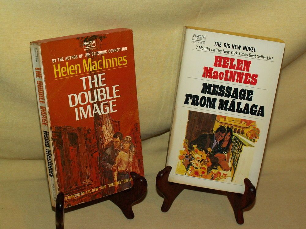 Helen MacInnes Set 2 PB Message From Malaga 1972 P1716 Double Image 1966 M1676