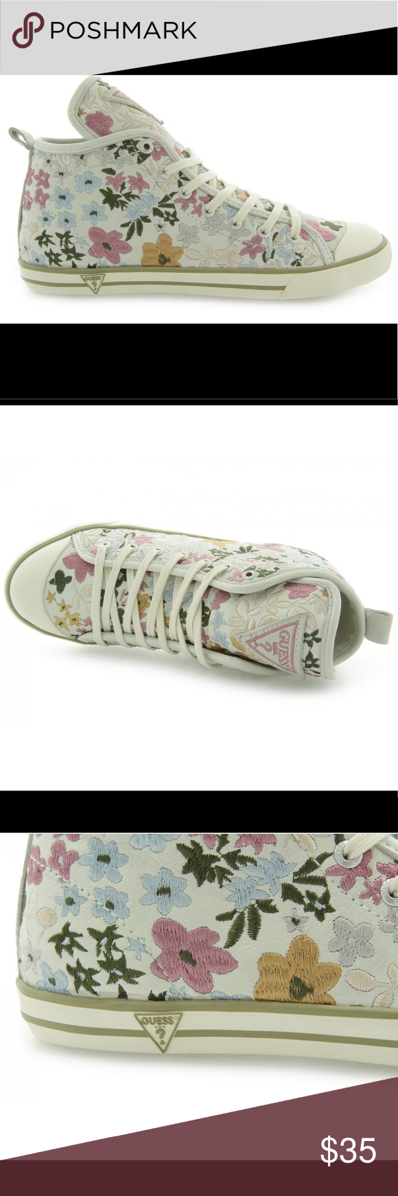 💐RARE Guess Flower Sneakers🌸 | Guess