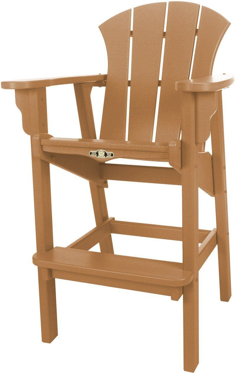 Pawleys Island Hammocks SRHDC1CD Sunrise High Dining Chair Cedar (W 29 X H  49.5