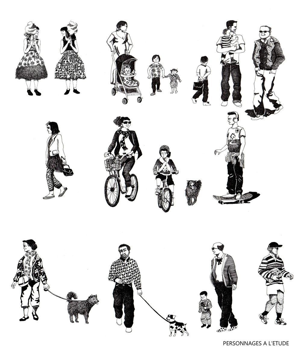 Illustrations pour les ateliers j nouvel rogers stirk for Les paysagistes