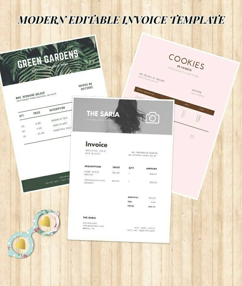 Excited To Share The Latest Addition To My Etsy Shop Printable Invoice Template Word Pdf Download Bu Invoice Template Word Invoice Template Printable Invoice