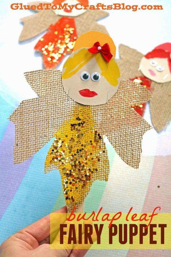 Autumn Leaf Fairies - Puppet Kid Craft -   23 burlap crafts for kids ideas