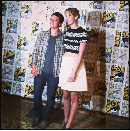 JoshHutcherson JenniferLawrence CatchingFire ComicCon