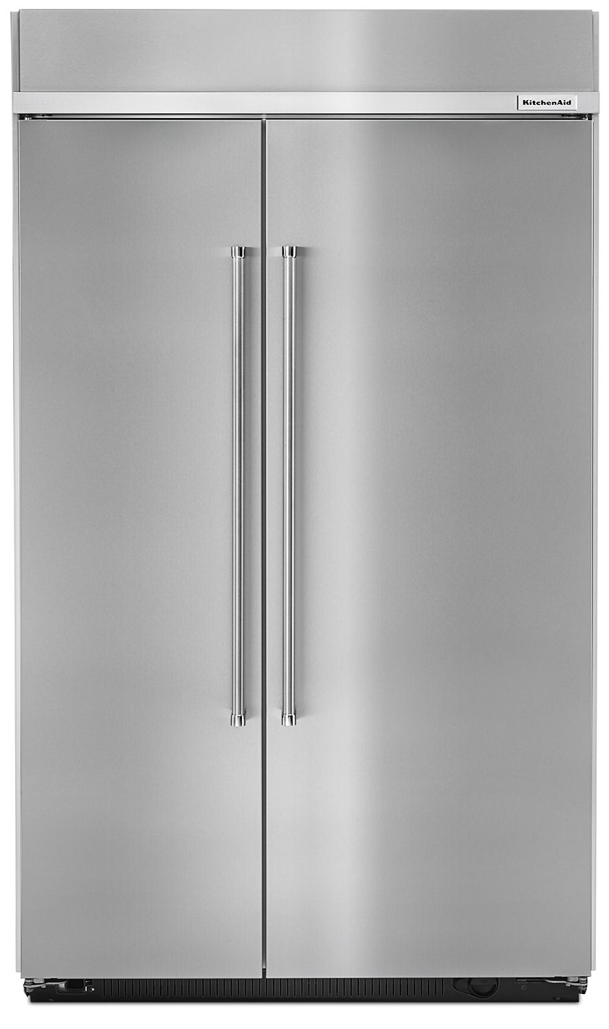 Kitchenaid 30 Cu Ft Stainless Steel Built In Side By Side Refrigerator Kbsn608ess In 2021 Kitchen Aid Side By Side Refrigerator Refrigerator