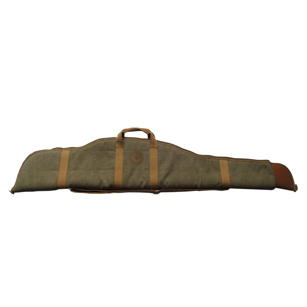 f3a64e90597e7 Tourbon Rifle Gun Slip Case Carry Bag Hunting Canvas Leather Thick Padded  52