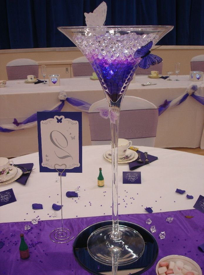Martini Glass Decorations For Wedding