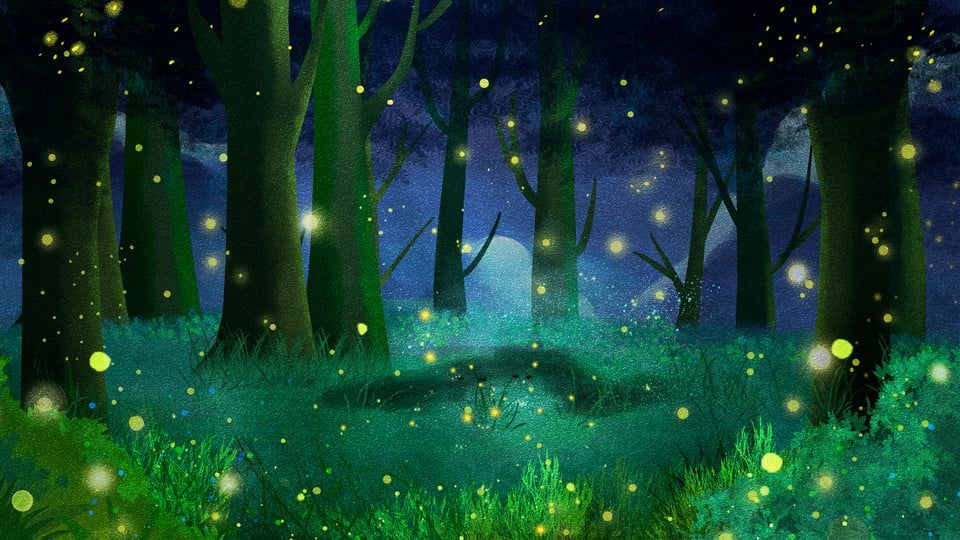 Forest Firefly Advertising Background