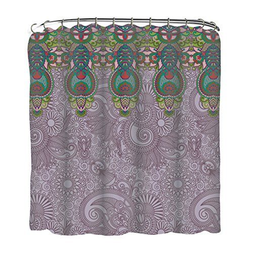 Indecor Home Fabric Lavender Paisleys and Medallions Shower Curtain and Roller Hook Set Indecor Home http://smile.amazon.com/dp/B00KL3WFFE/ref=cm_sw_r_pi_dp_lUEdvb0581S81