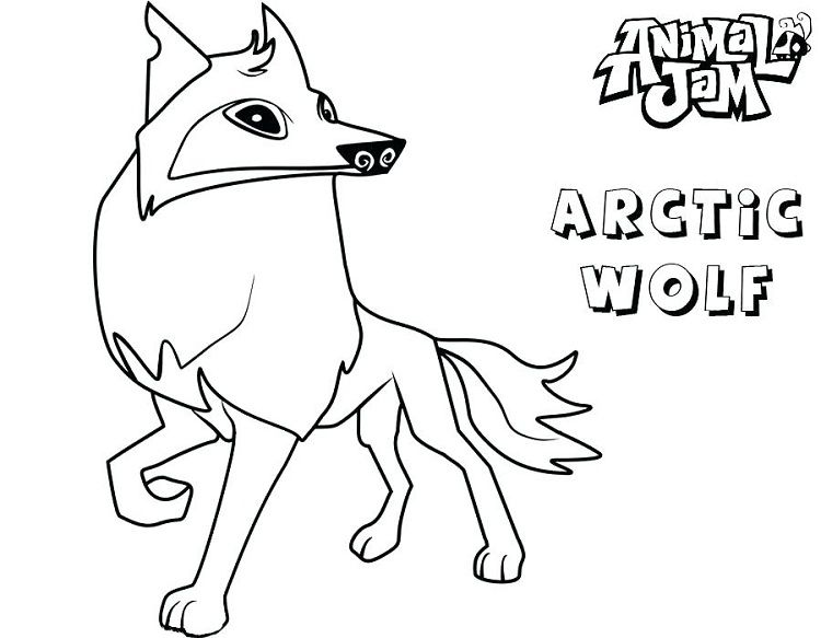 animal jam coloring pages arctic wolf | adri | Fox coloring ...