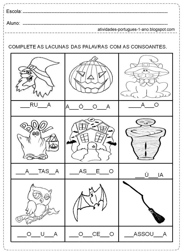 Resultado de imagem para atividades para completar com vogais e ...