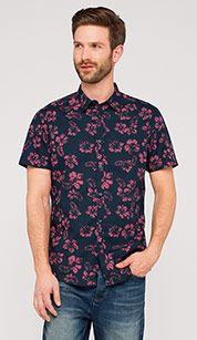 Cotton shirt in dark blue