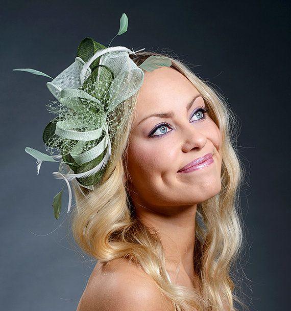 Green fascinator hat for weddings 94dbddf98dc