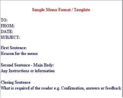Business Memo Sample Letters  Business Memo Template