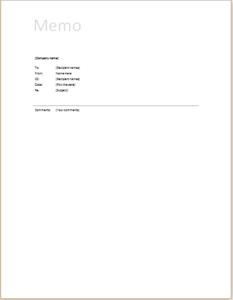 microsoft word memo templates