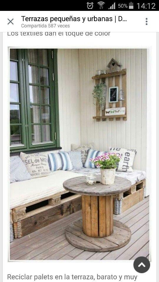 Terracita decoraci n m bel palette y europaletten sofa - Gartentisch aus europaletten ...