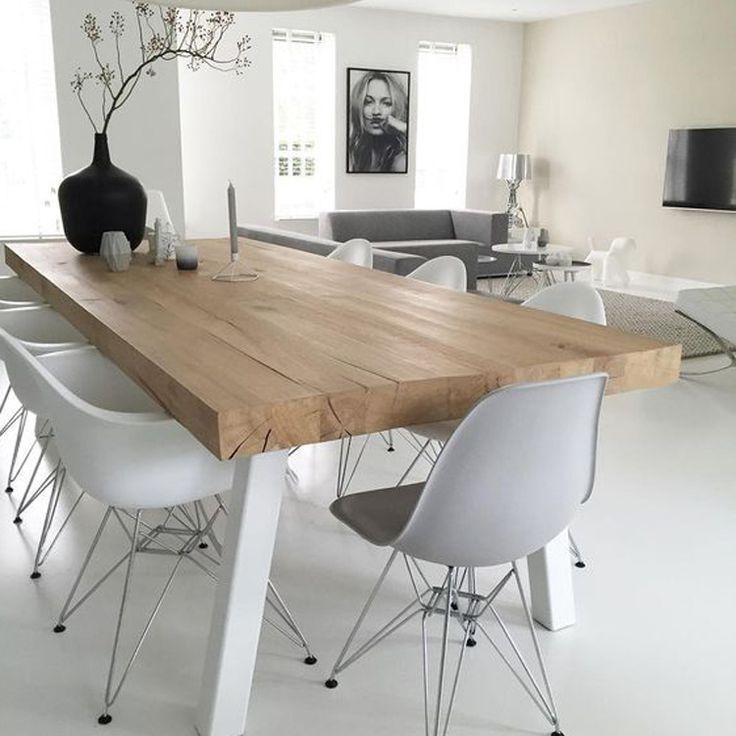 Minimalistisch interieur eetkamer woonkamer   tafel   Pinterest ...