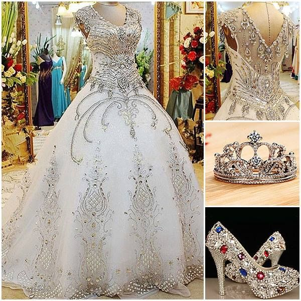 Okay this isn't a dress I would ever wear... But it would be a good wedding dress for a character in one of my books! (Minus the shoes and crown though... Haha)