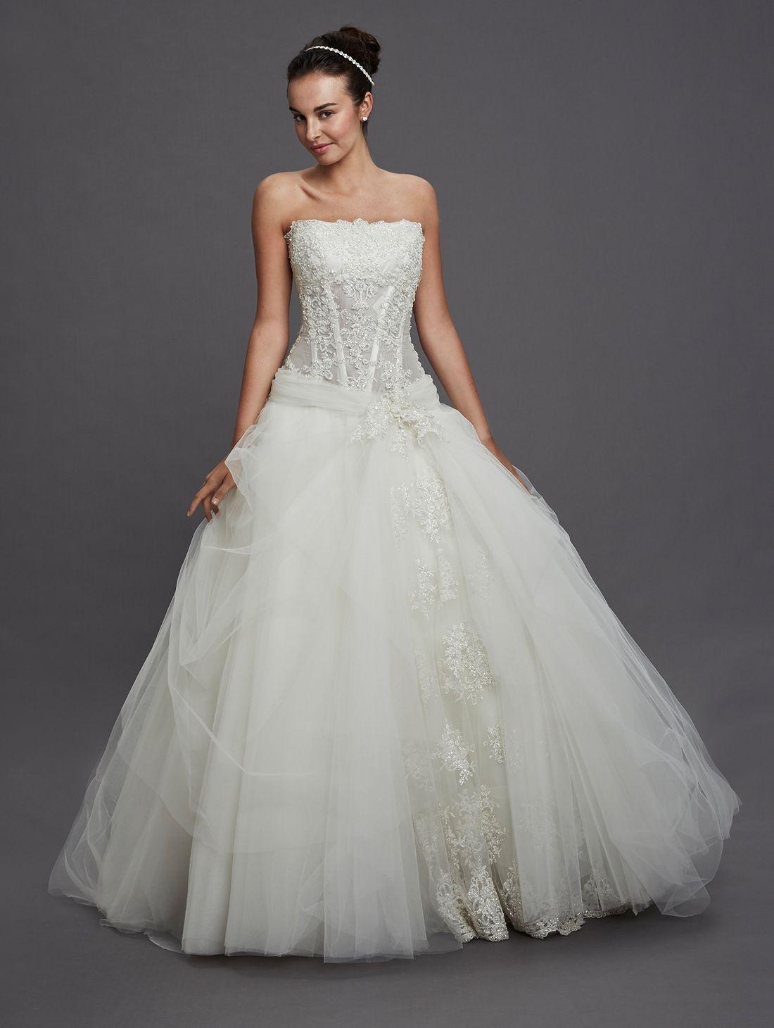 kleinfeldbridal pnina tornai bridal gown princess | wedding ...