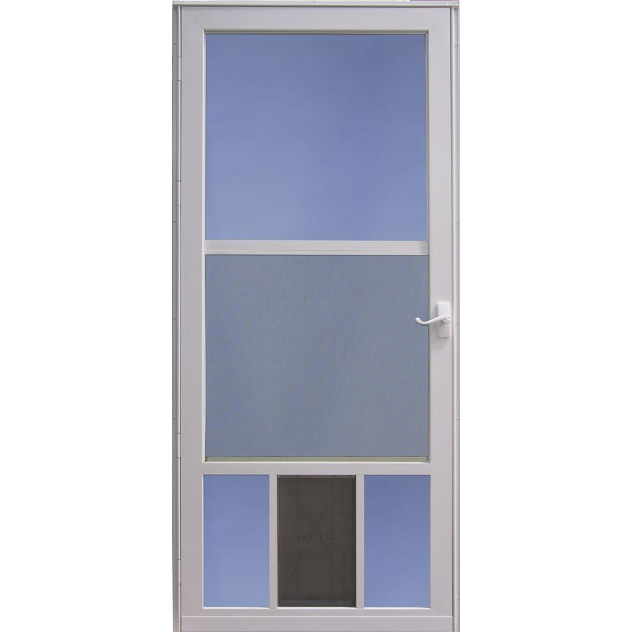 Shop Larson Petview White Mid View Tempered Glass Aluminum