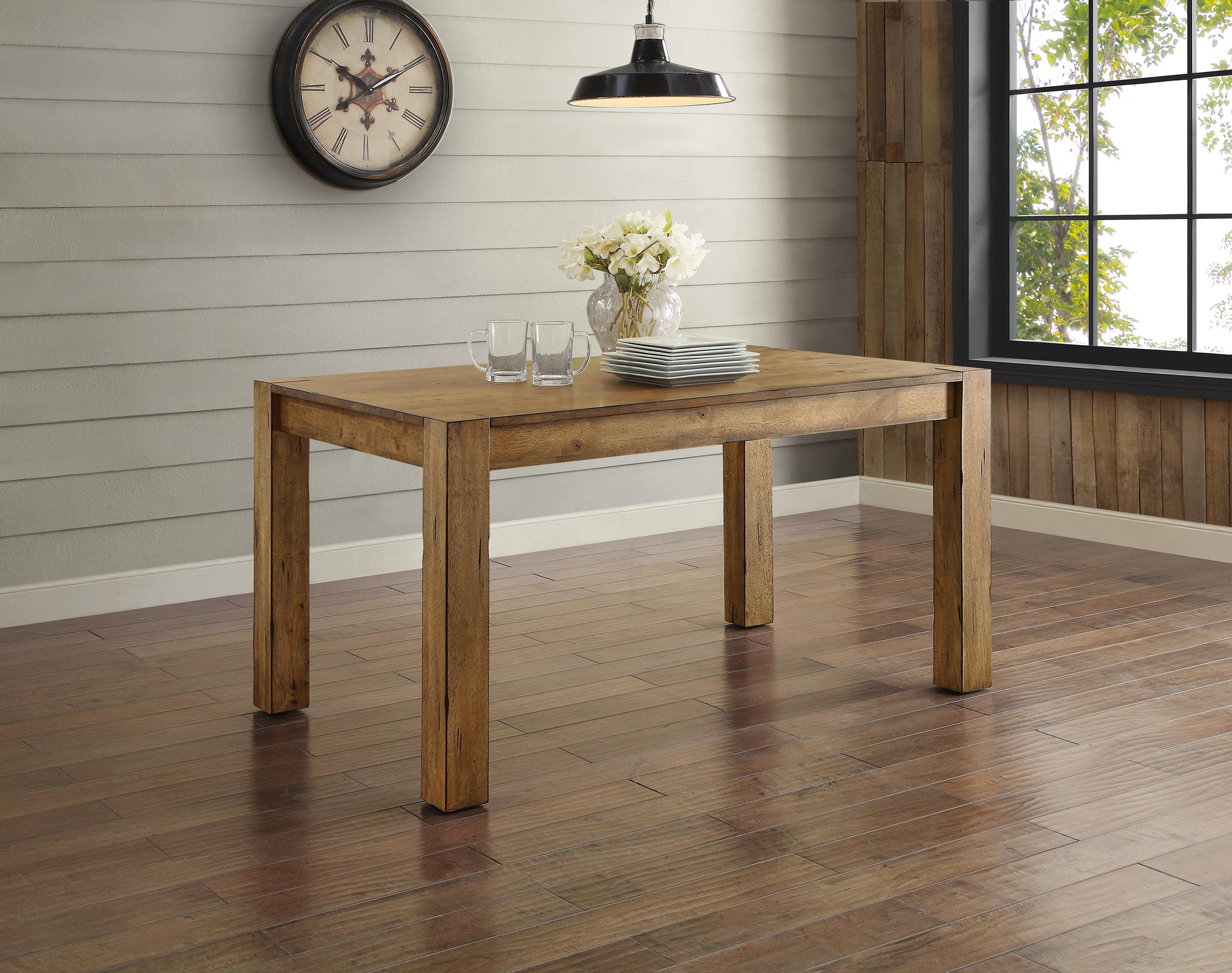 Better Homes and Gardens Bryant Dining Table Rustic Brown Walmart