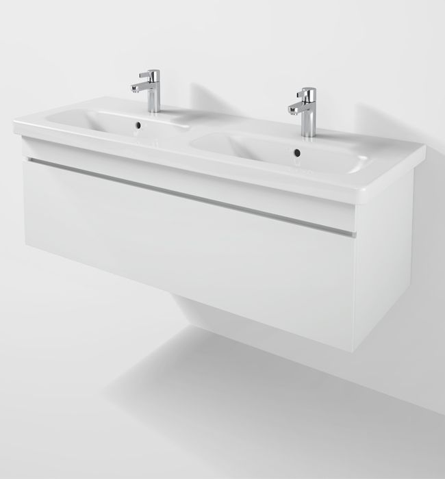 Bathroom Sinks Double Basin duravit durastyle 1230mm vanity unit with double basin - ds6398