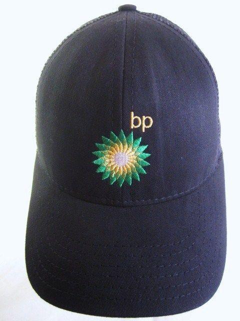 237cf3d1a910e BP British Petroleum Black Hat Embroidered Logo Adjustable Snapback Mesh USA   BP  BaseballCap