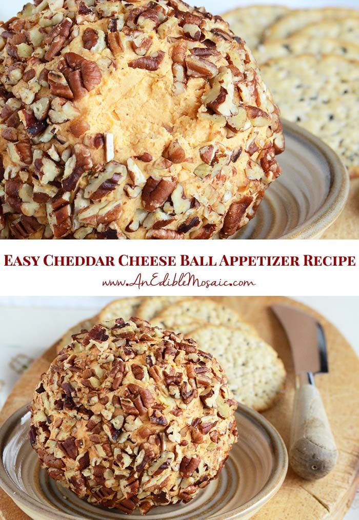 Easy Cheddar Cheese Ball Appetizer Recipe Easy Cheddar Cheese Ball Appetizer Recipe Deborah Oliner