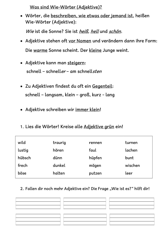 Adjektive Einführung Übung Steigerung Klasse 20/20 ...