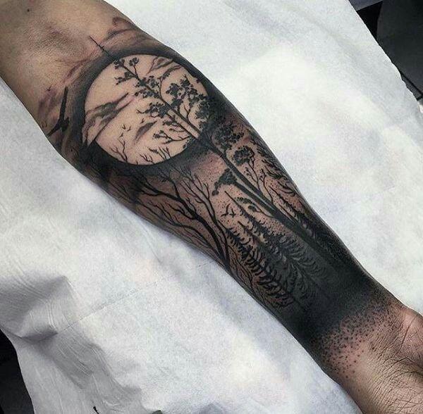 Pin De Kevin G Lo En Tatoveringsforslag Tatuaje De Bosque En El Brazo Media Manga Tatuaje Tatuajes De Brazo Interno