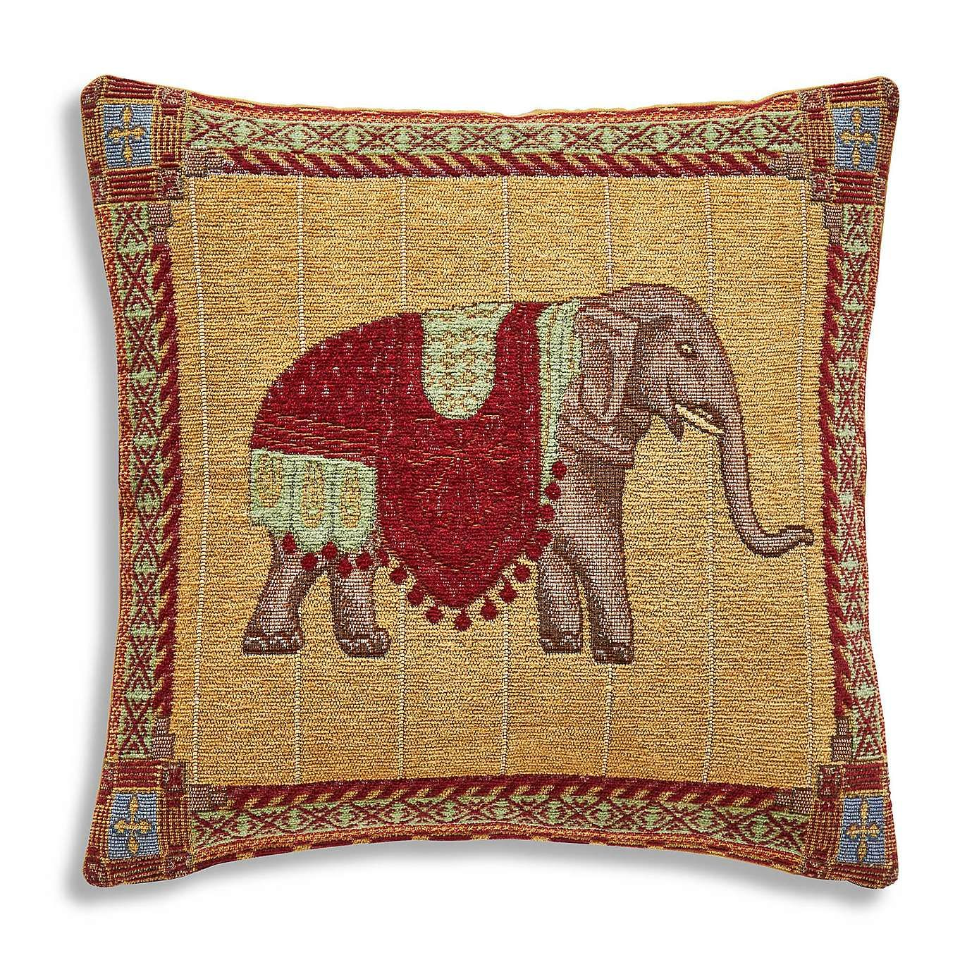 Red elephant pillow | Etsy