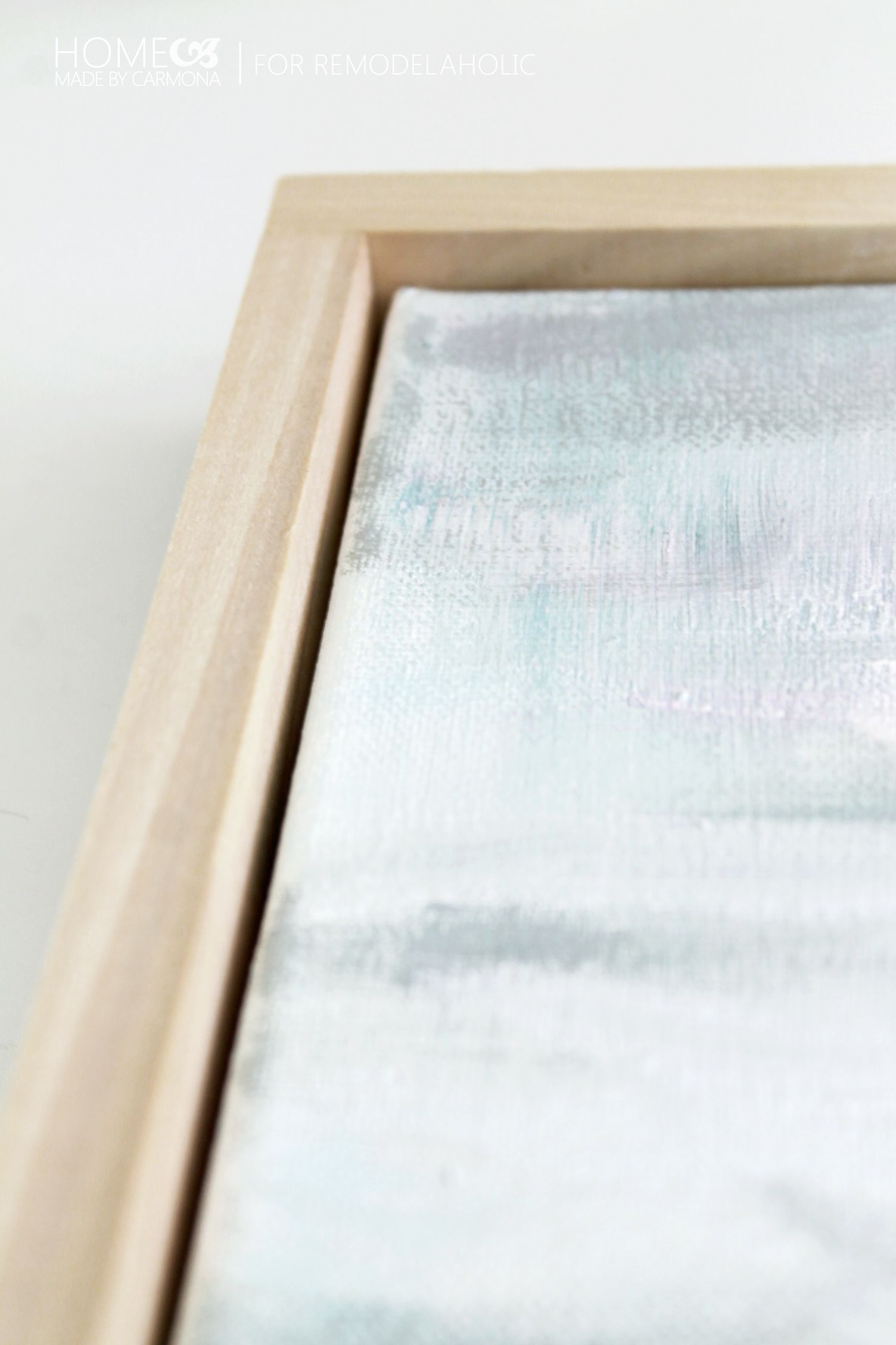 Tutorial: Chic Floating Frame for a Canvas | Floating frame, Spaces ...