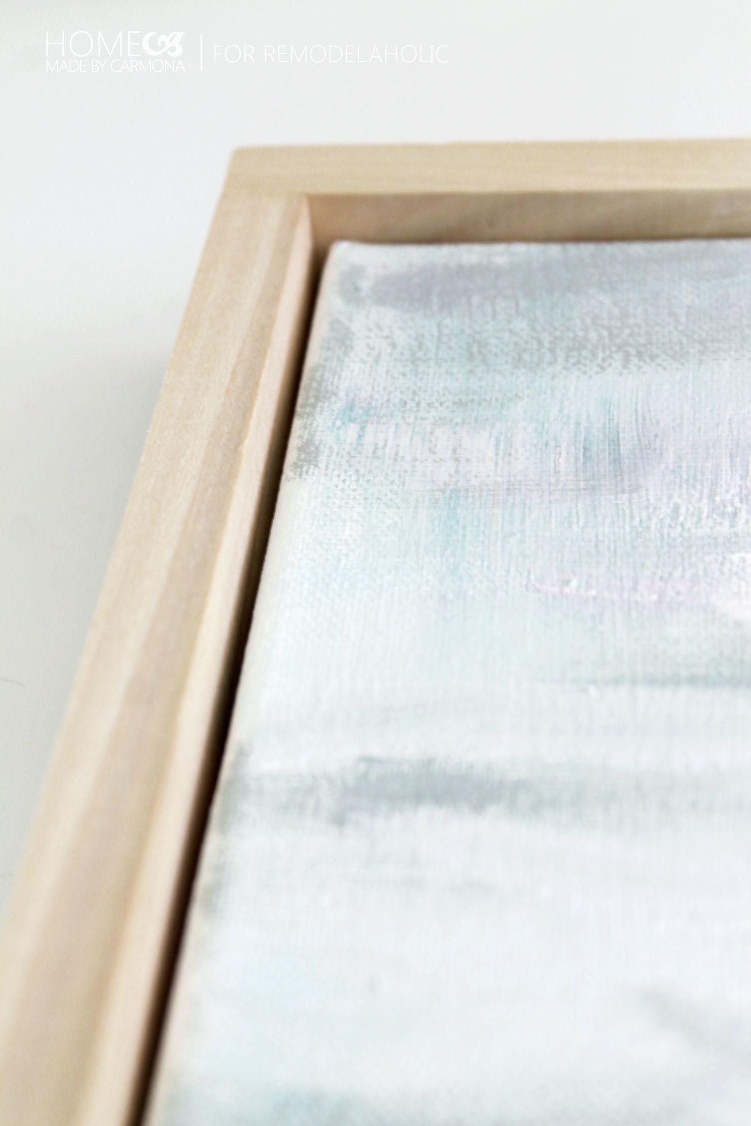 Floating Frame - space - for Remodelaholic | Art | Pinterest ...