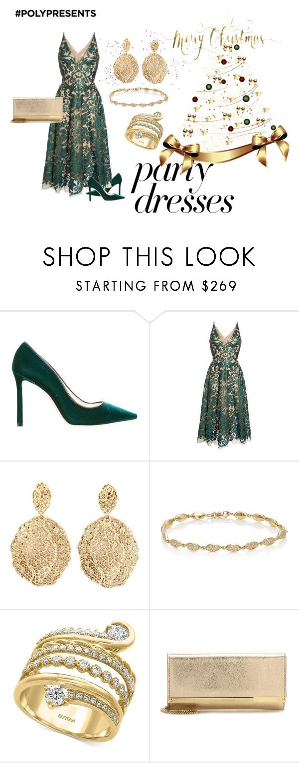 """""""#PolyPresents: Party Dresses"""" by krdeam ❤ liked on Polyvore featuring Jimmy Choo, Dress the Population, Aurélie Bidermann, Jennifer Meyer Jewelry, Effy Jewelry, contestentry and polyPresents"""