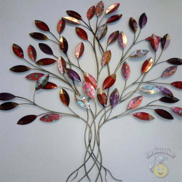 Metal wall art superb red multi leaves wall decor 91x84cm new other home decor gumtree Home decor wall decor australia
