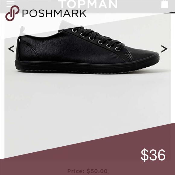 Topshop Black Plimsolls. Brand new. Men