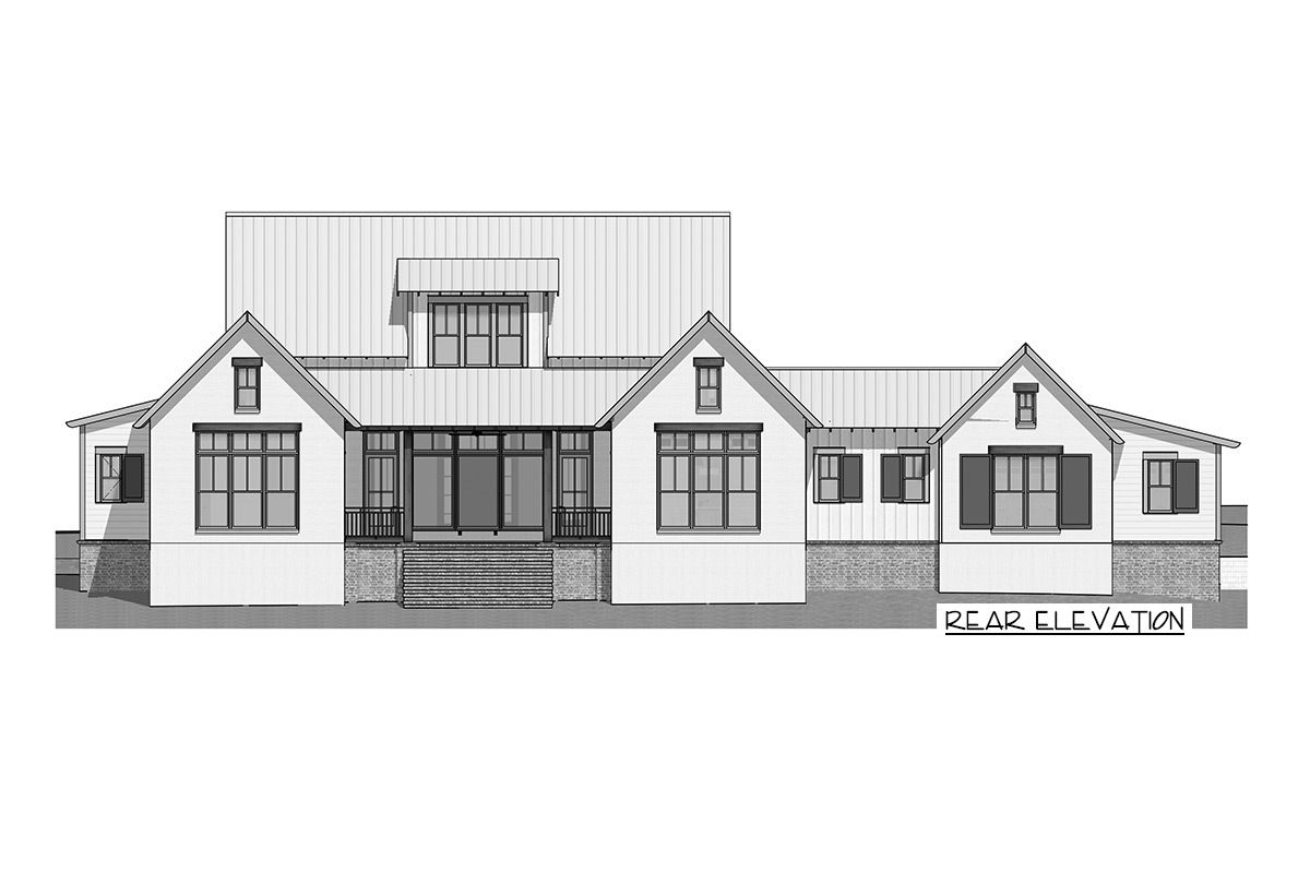 Bed country farmhouse plan with master on main lls